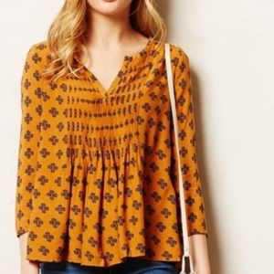 Anthropologie Peasant Blouse